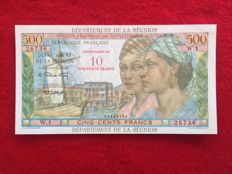 Reunion - 10 New Francs on 500 Francs (1971) - Pick 54b