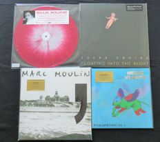 Billie Holiday / Julee Cruise / Marc Moulin / Hiatus Kaiyote * Great JAZZ(y) lot: 4LP's + 1x 10 inch, 3/4 titles are limited editions on coloured or splattered vinyl!