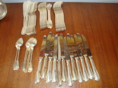 A part of a Christofle cutlery case, 56 pieces
