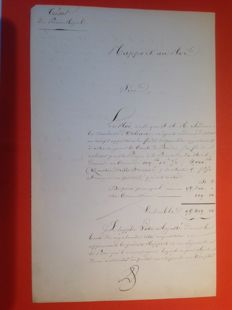 Louis-Philippe (1773-1850), King of the French - letter signed by the King (approved 'LP') - 1845