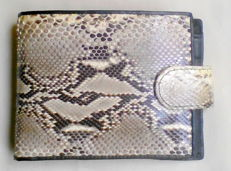 Python leather purse / wallet.