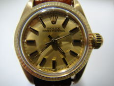 Rolex in 18 kt yellow gold Lady, 1960s, guarantee