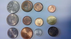 Lot of 11 coins from Former Portuguese Colonies + Timor 1970 set