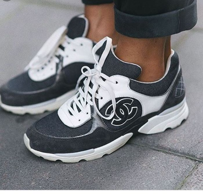 Chanel White Running Shoes