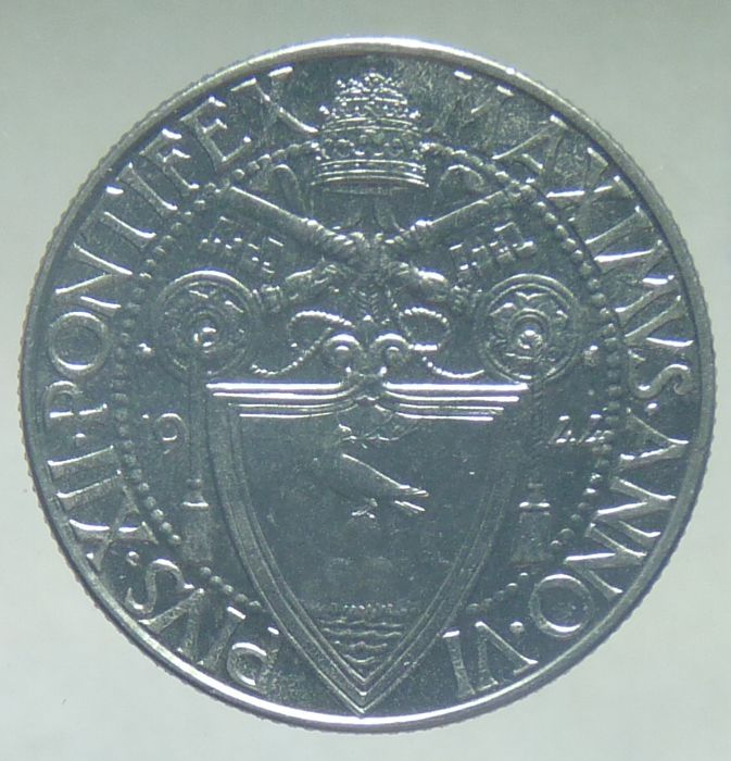 Vatican 1944 - 50 centesimi nickel Very rare, mintage of 1,000 coins UNC