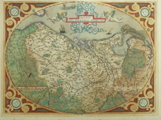 The Netherlands, Belgium, Luxembourg; Abraham Ortelius - Descriptio Germaniae inferioris - 1587.