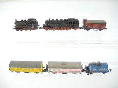 Märklin Z - Aged goods train with steam locomotive Series BR 86 and 4 goods wagons of the DB + BR 89 in need of maintenance [179]