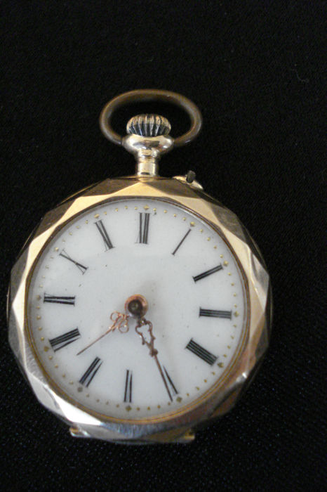 Anonym women's pocket watch/pendant watch, around 1900