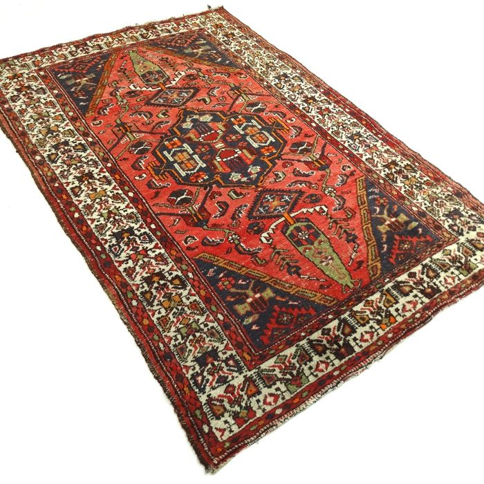 "Hamadan - 202 x 125 cm - ""Vintage - Persian rug in beautiful condition"" - With certificate."