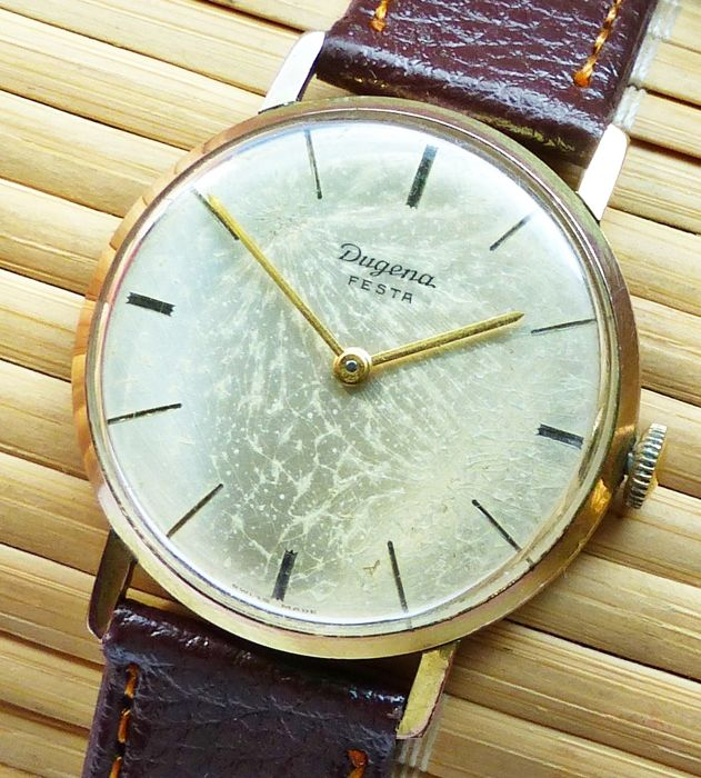 DUGENA Festa 17 jewels -- men's wristwatch from the 1960s