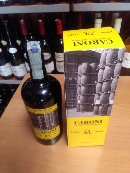 1 bottle of Caroni 23 years - 70cl & 57,18%vol - Velier