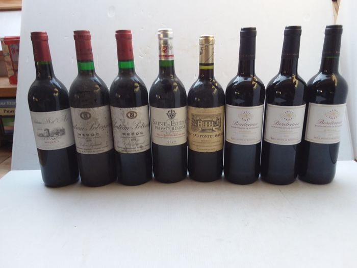2x 1979 chateau potensac, médoc & 3x 2013 baron philippe de rothschild, bordeaux & 2002 chateau pontet barrail, medoc & 2009 saint- estéphe private reserve, saint-estephe & 2006 chateau bel air, bordeaux - 8 bottles 75cl.