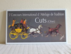 Enamel advertising sign 5e Concours International in Oise