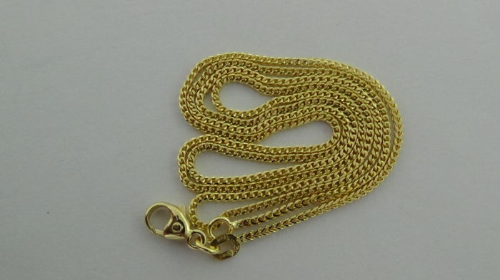 14 kt Gold Curb Link Necklace – Length: 50 cm