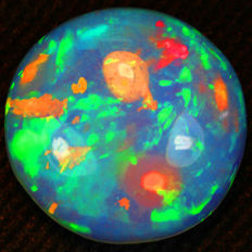 Multicolor Sparkles in 3D Chaff Pattern Solid Welo Opal - 16.00 x 6.32 mm - 7.78 ct