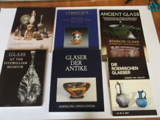 7 catalogues on Ancient and Roman Glass