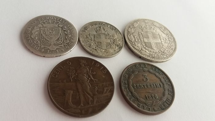 Italy - Lot of 5 coins (incl. silver)