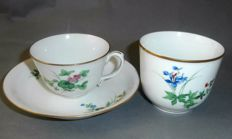 Meissen cup & saucer + small sugar bowl