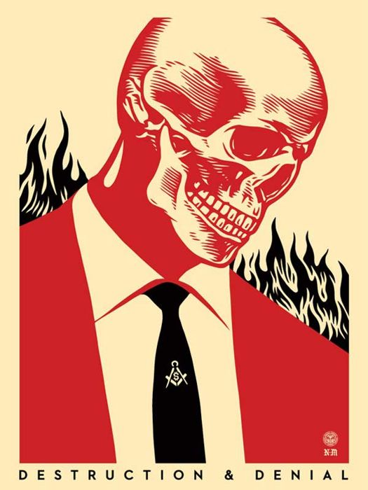 Shepard Fairey (OBEY) & Francisco Reyes Jr - Destruction & Denial