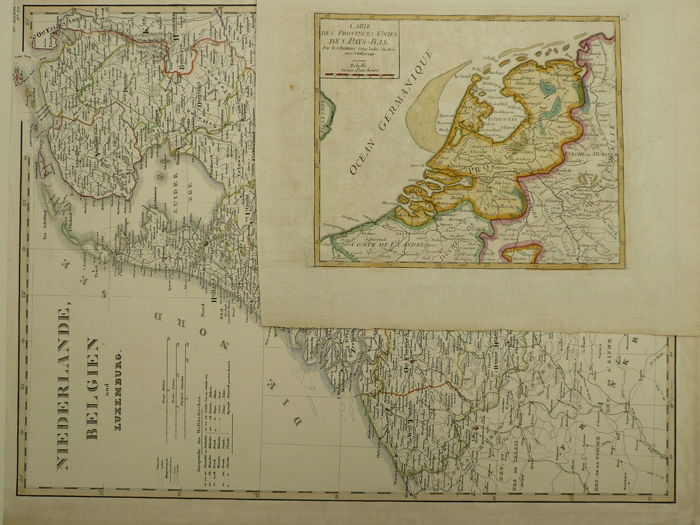 The Netherlands; Robert de Vaugondy - Carte des Provinces Unies des Pays Bas - 1748