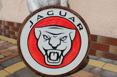 Jaguar - Unique X-Large logo carved in wood - 50 cm