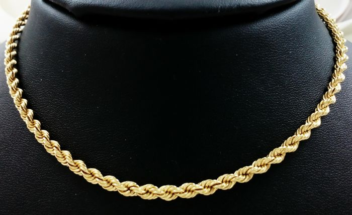 18 kt (750/000) yellow gold cord of 13.50 g – Length: 50 cm