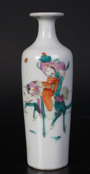 Porcelain famille roze vase - China - 19th century