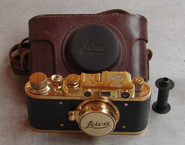 FED II D Anniversary 1923 GOLDEN in leather case