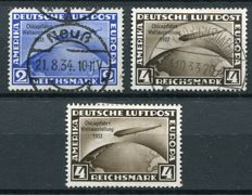 Germany, Deutsches Reich 1933 - Zeppelin to Chicago - Michel 497/98