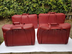 ferrari 550/575 maranello luggage set leather by schedoni modena italy -year 2000