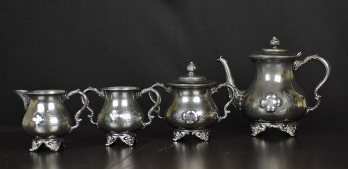 4-piece Manhattan silver plated Quadruple Coffee set