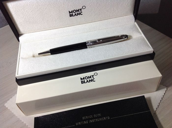 Montblanc Pen Meisterstuck 164 Solitaire Doue' With Cap in Steel, with box