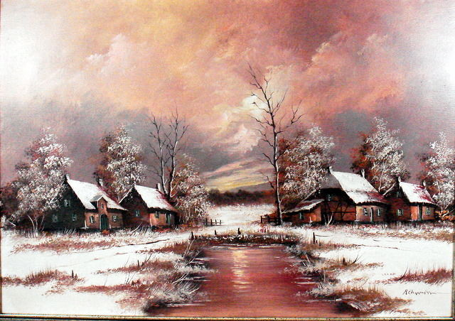 Unknown (20th century) - Winterlandschap