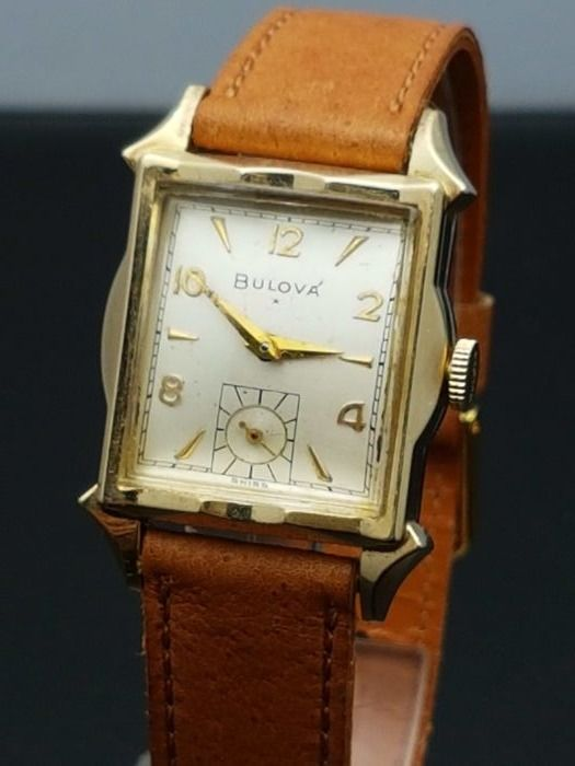 Bulova Tank – men's wristwatch – Swiss made, 1950s