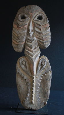 Heavy, old ceremonial figure - Upper Sepik Probably April River - Papua New Guinea