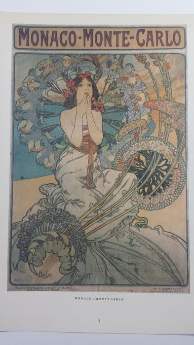 Alfons Mucha, folder with 15 prints.