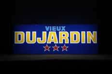Old illuminated advertising for Dujardin Vieux