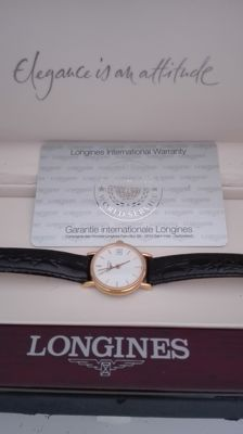 Longines – 18k /750 gold – Lady's watch, with certificate