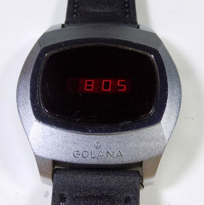 Swiss Golana - Early Digital - LED Red Light - 1960's - Men's Wristwatch