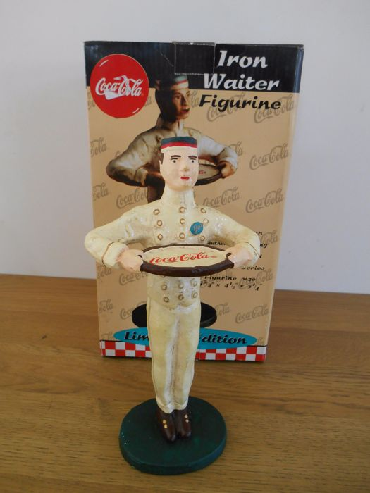 Cast iron Butler of Coca-Cola from 1998 - no. 2818/15000