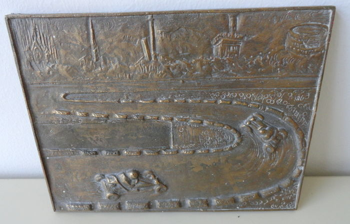 Rally plate in bronze, hand signed