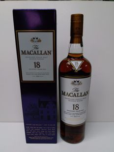 Macallan 18 years old Japan Version 700ml ,original box.
