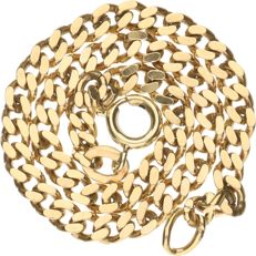 18 kt - Yellow gold curb link bracelet – Length:  17.5 cm