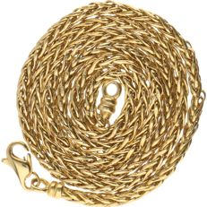 18 kt – Yellow gold foxtail link necklace – Length: 48 cm.