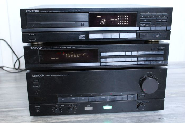 Complete Kenwood Hi-fi Set - Amplifier A-62, CD player DP520 and Tuner T-92L