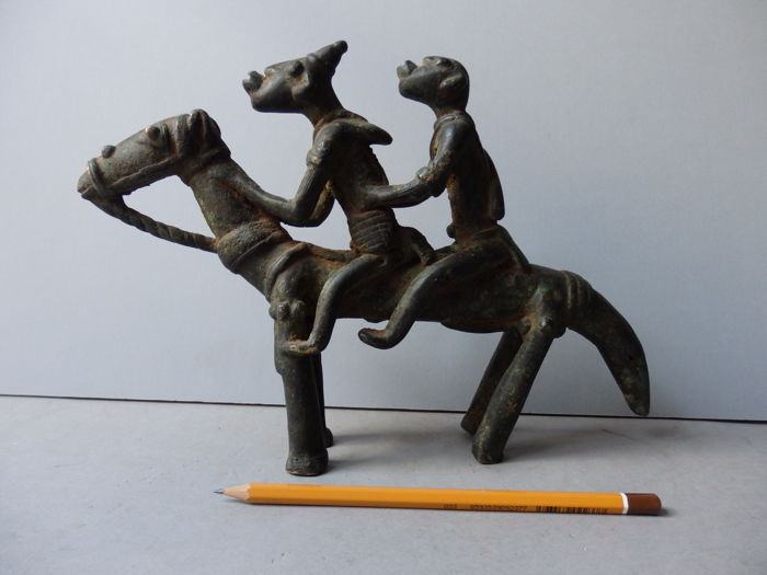 Large Horseriders in bronze - DOGON - Mali