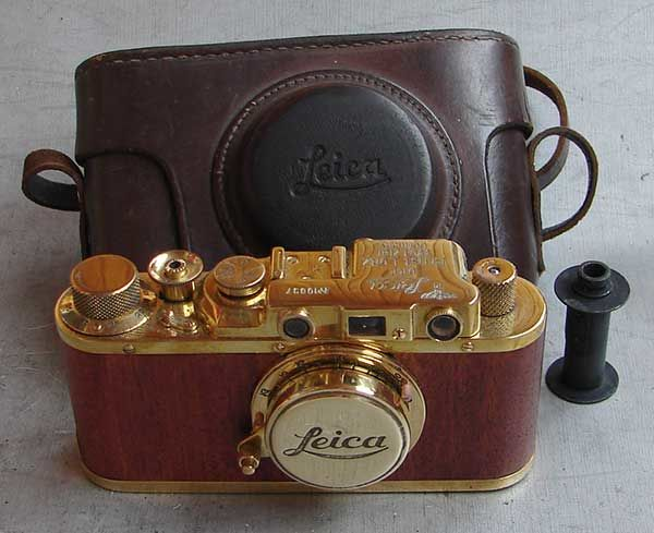 FED - Golden Ii D Marine - Wood in leather case