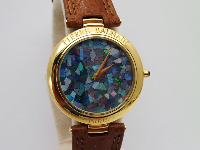 pierre balmain opaline dial unique w watch nos. quartz eta retail 2100 usd..