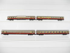 Märklin Z - 4-piece passenger train TEE with interior lighting of the DB, including a panorama carriage [182]