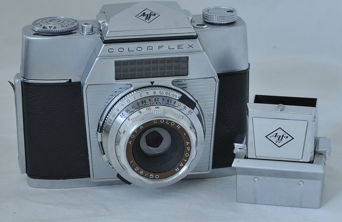 Agfa Colorflex II with extra respect viewfinder